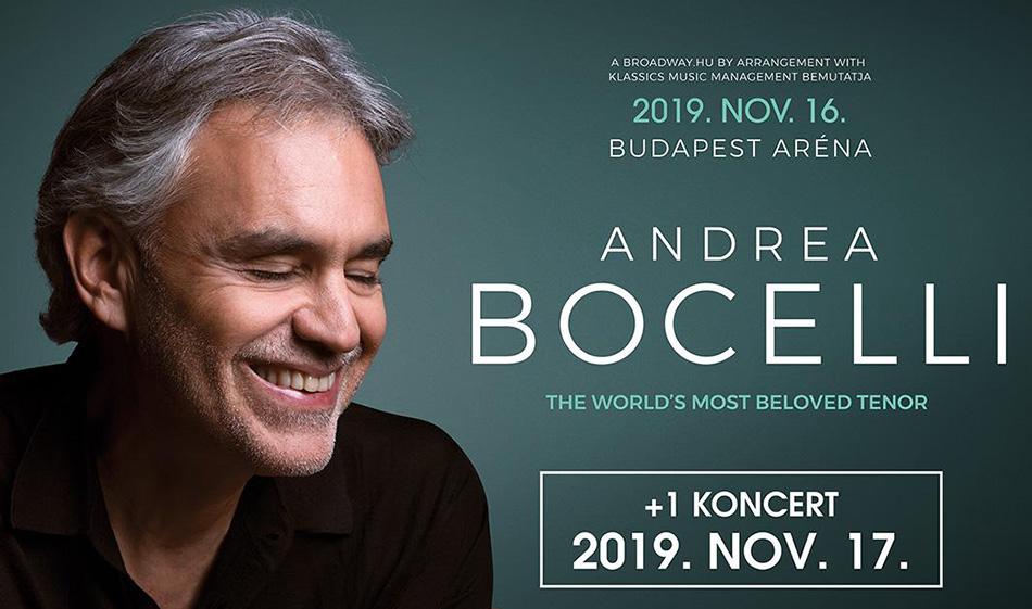 Сольные концерты Андреа Бочелли в Будапеште