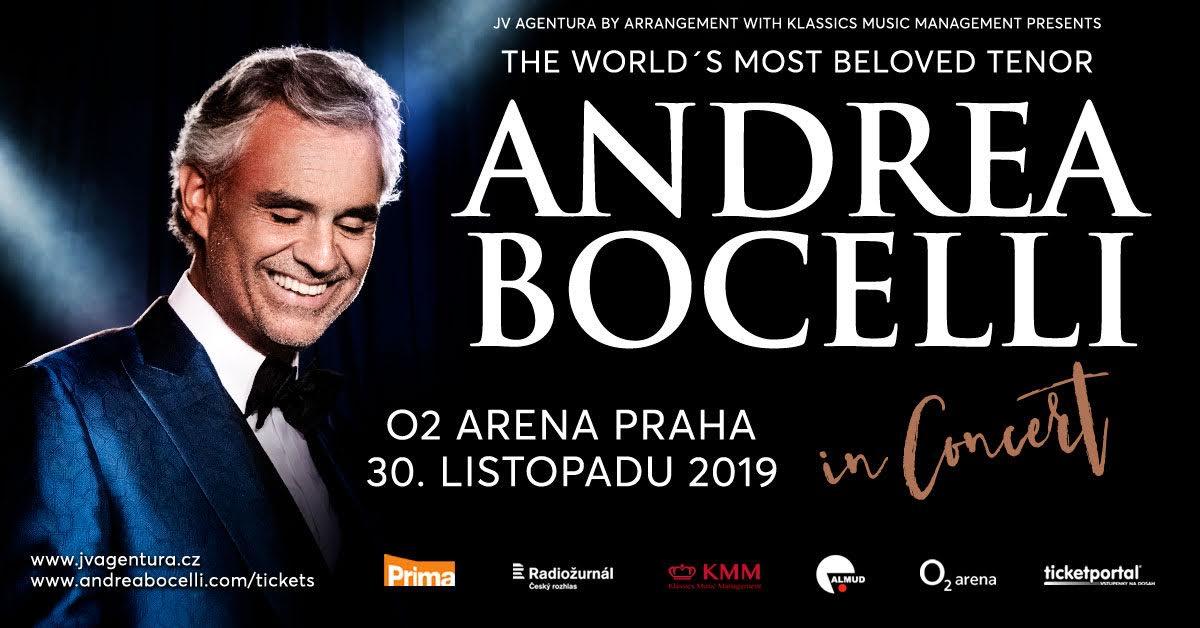 концерт Андреа Бочелли в Праге