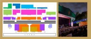 План зрительного зала фестиваля Кастель де Пералада