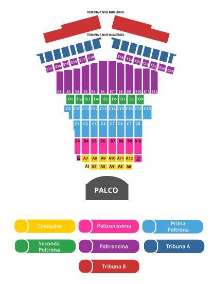 схема зала Teatro del Silenzio