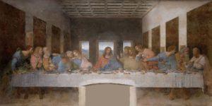 Фреска Тайная вечеря Леонардо да Винчи